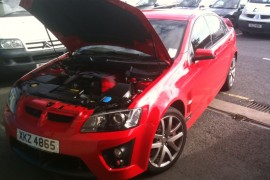 Vauxhall VXR8 lpg / autogas conversion photos, Northern Ireland